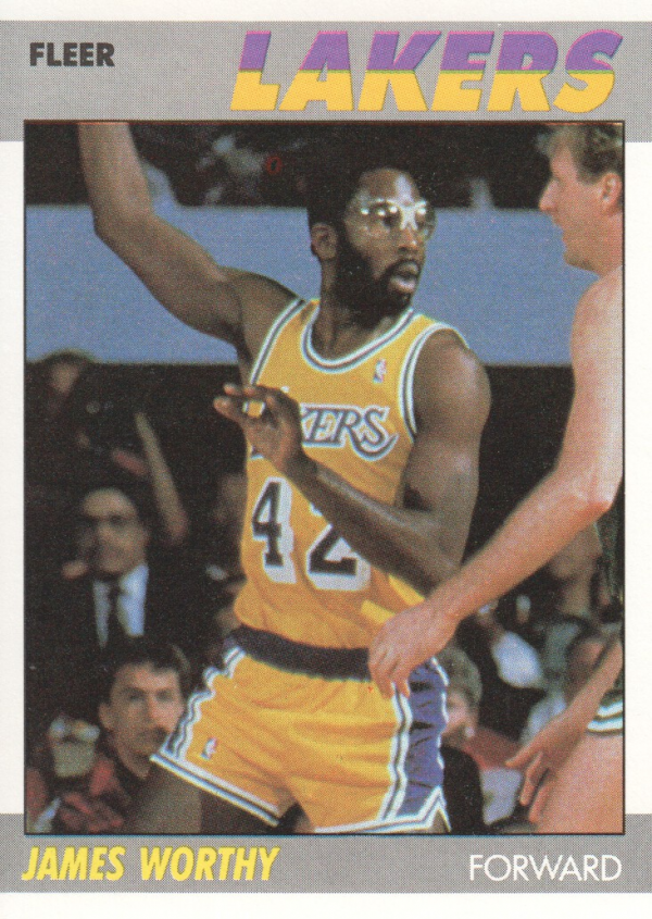 1987-88 Fleer #130 James Worthy
