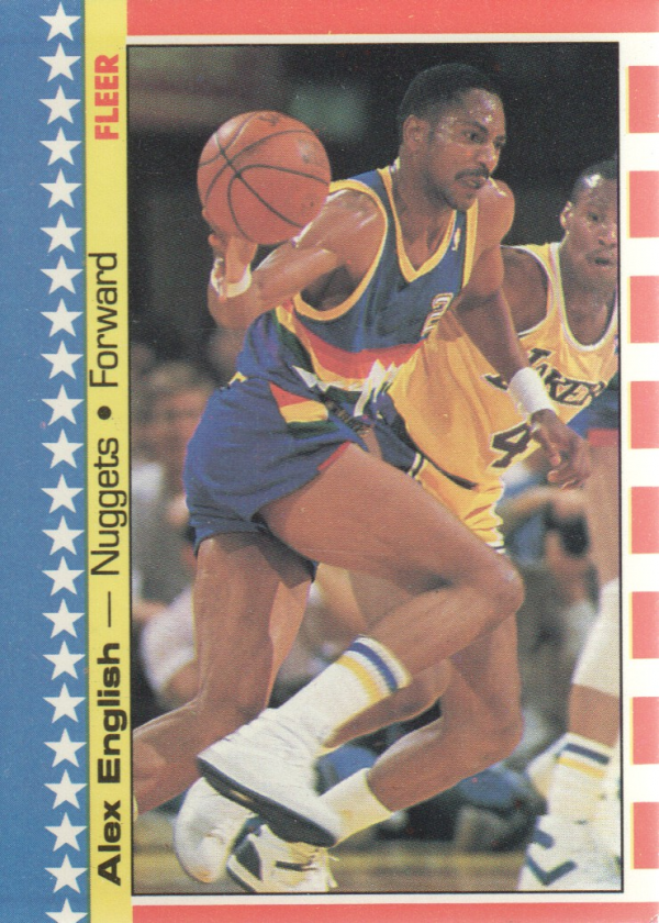 1987-88 Fleer Stickers #11 Alex English