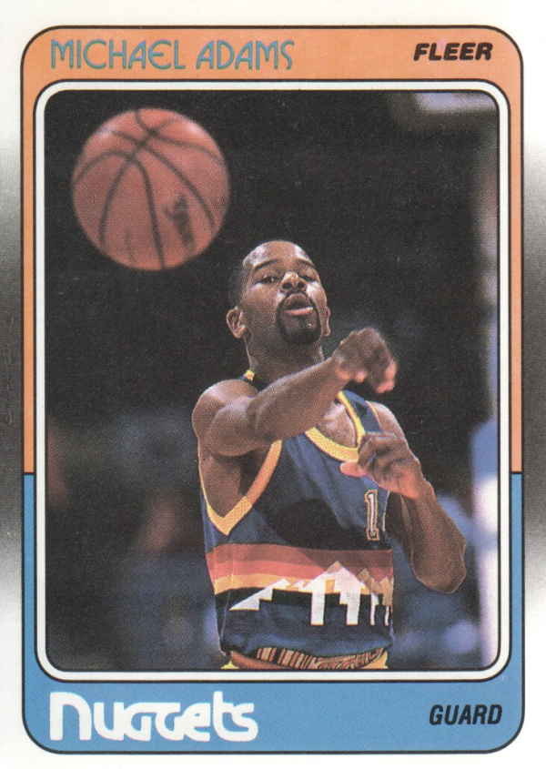 1988-89 Fleer #33 Michael Adams RC