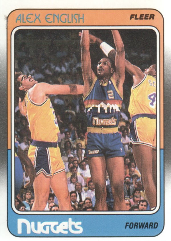 1988-89 Fleer #34 Alex English