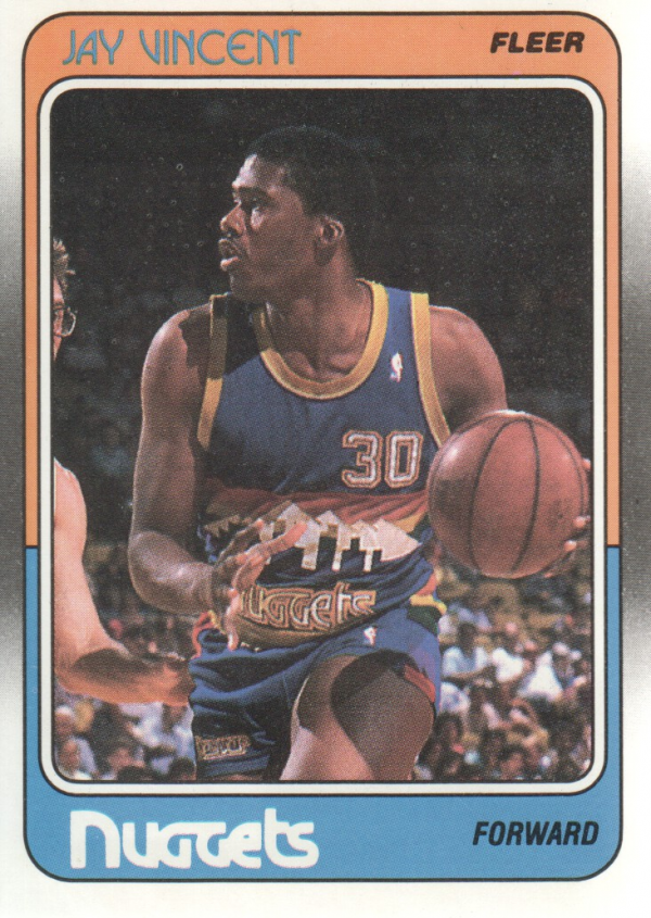 1988-89 Fleer #38 Jay Vincent