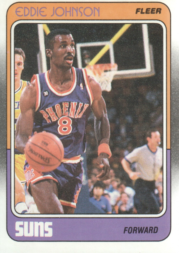 1988-89 Fleer #90 Eddie Johnson