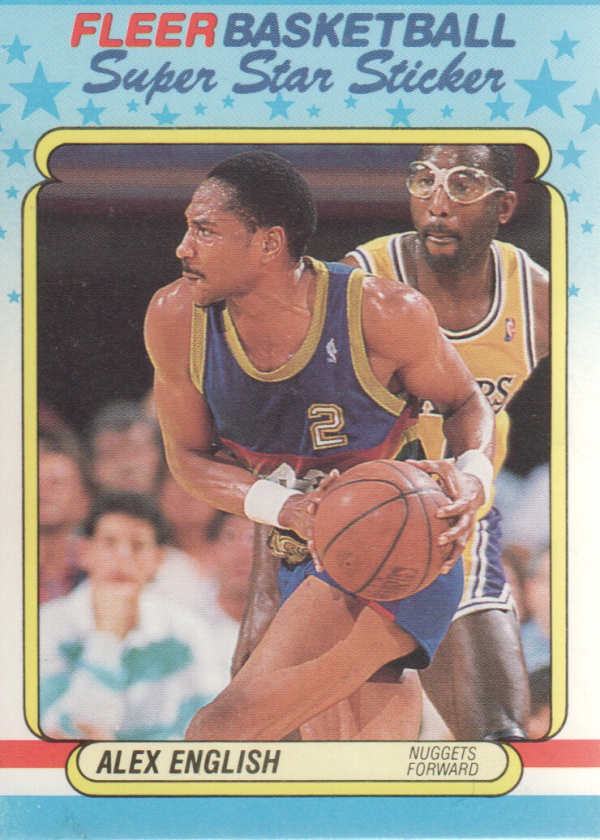 1988-89 Fleer Stickers #4 Alex English