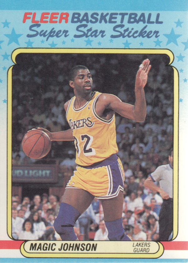 1988-89 Fleer Stickers #6 Magic Johnson