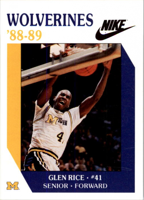 1988-89 Michigan #10 Glen Rice
