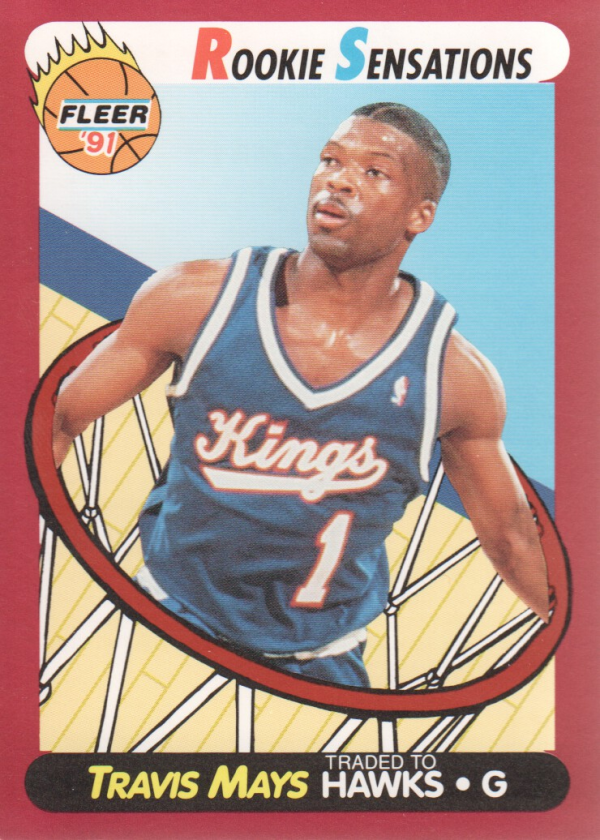 1991-92 Fleer Rookie Sensations #5 Travis Mays
