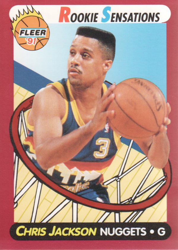 1991-92 Fleer Rookie Sensations #8 Chris Jackson