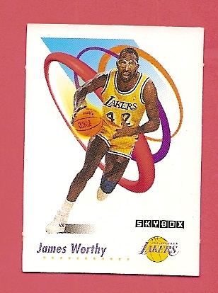 1991-92 SkyBox Canadian Minis #26 James Worthy
