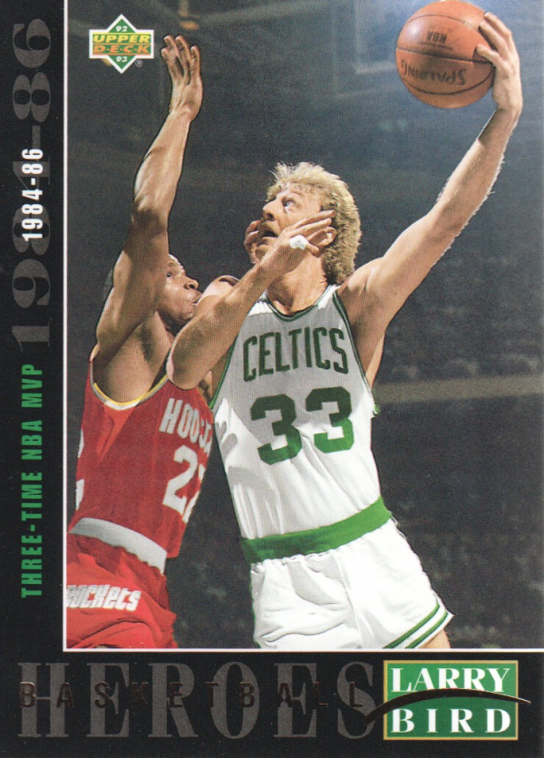 1992-93 Upper Deck Larry Bird Heroes #23 Larry Bird/1984-86 3-Time MVP