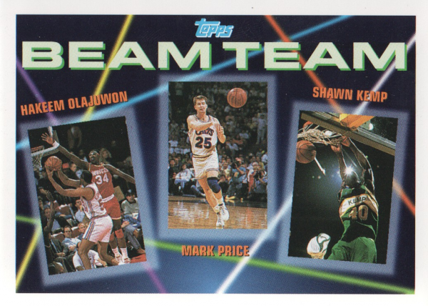 1992-93 Topps Beam Team #5 Hakeem Olajuwon/Mark Price/Shawn Kemp