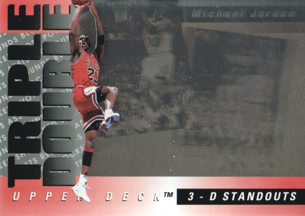 1993-94 Upper Deck Triple Double #TD2 Michael Jordan