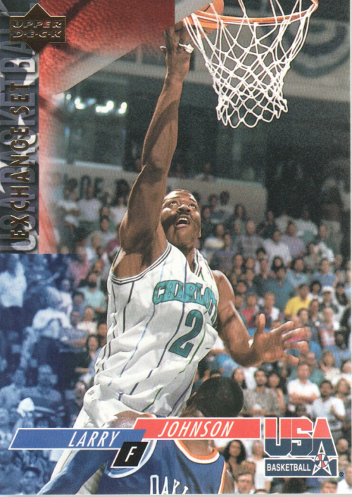 1993-94 Upper Deck SE USA Trade #18 Larry Johnson