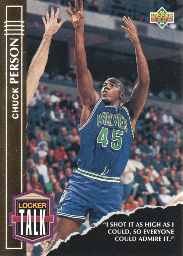 1993-94 Upper Deck Locker Talk #LT10 Chuck Person