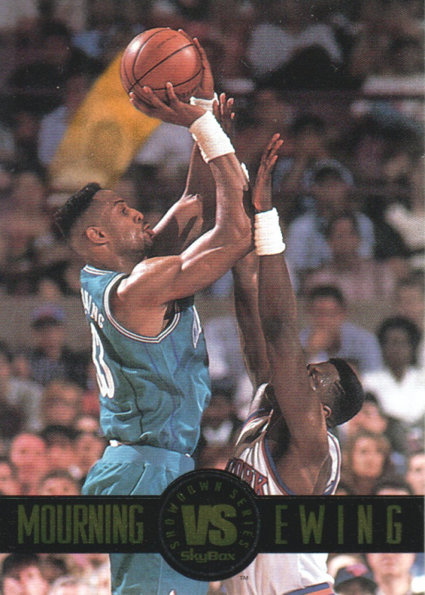 1993-94 SkyBox Premium Showdown Series #SS1 Alonzo Mourning/Patrick Ewing