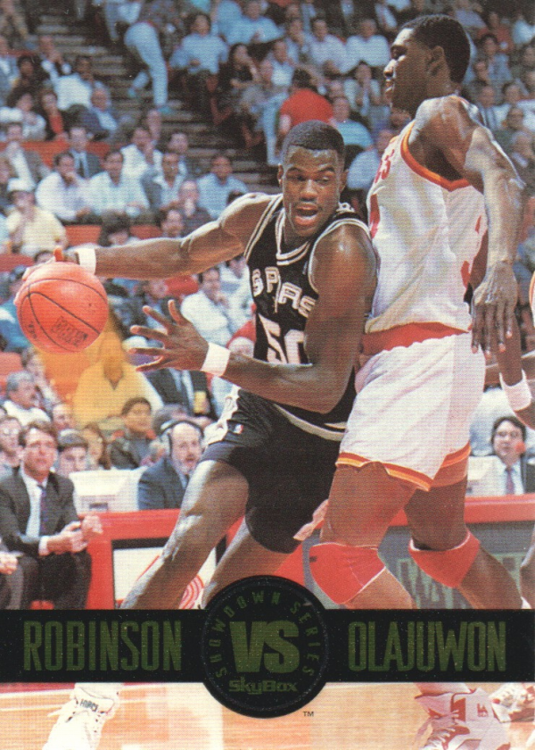 1993-94 SkyBox Premium Showdown Series #SS5 David Robinson/Hakeem Olajuwon