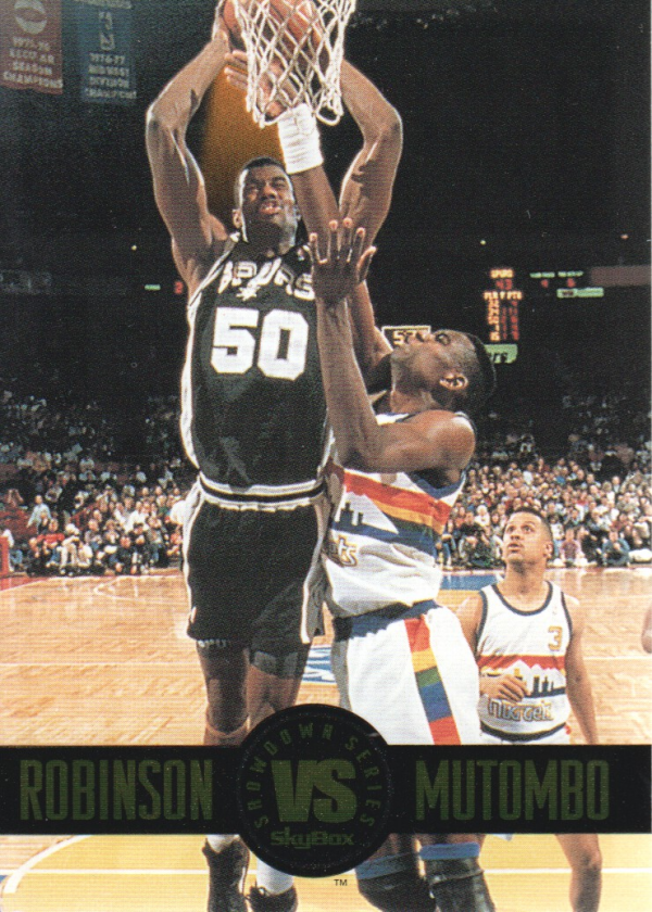 1993-94 SkyBox Premium Showdown Series #SS6 David Robinson/Dikembe Mutombo