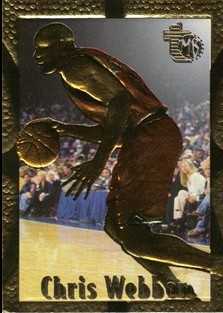 1994-95 Embossed Golden Idols #100 Chris Webber