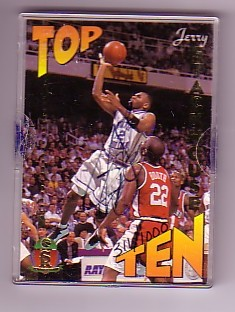 1995 Signature Rookies Prime Top 10 Signatures #TT3 Jerry Stackhouse
