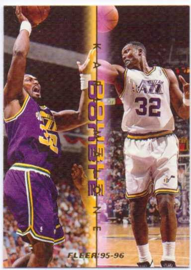 1995-96 Fleer Double Doubles #7 Karl Malone