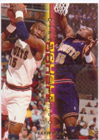 1995-96 Fleer Double Doubles #8 Dikembe Mutombo