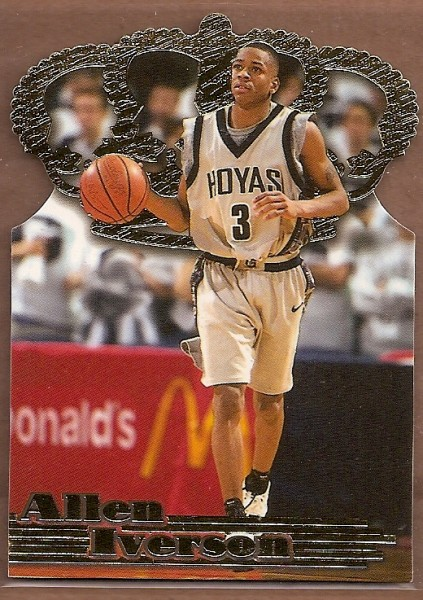 1996 Pacific Power Gold Crown Die Cuts #GC7 Allen Iverson