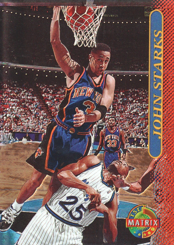 1996-97 Stadium Club Matrix #39 John Starks