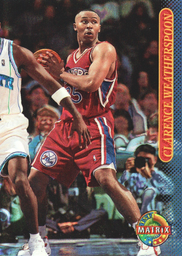 1996-97 Stadium Club Matrix #88 Clarence Weatherspoon