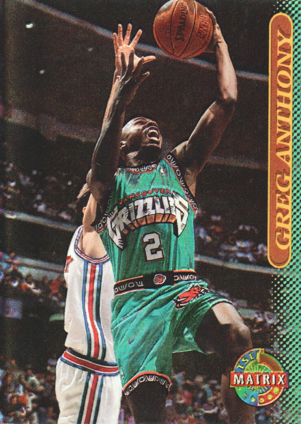 1996-97 Stadium Club Matrix #89 Greg Anthony