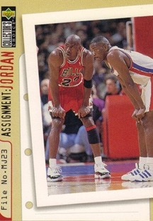 1996-97 Collector's Choice #363 Joe Dumars/Michael Jordan AJ