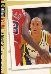 1996-97 Collector's Choice #365 Reggie Miller/Michael Jordan AJ