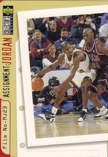 1996-97 Collector's Choice #366 Gary Payton/Michael Jordan AJ