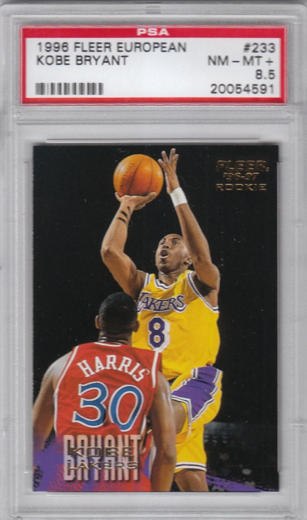 1996-97 Fleer European #233 Kobe Bryant