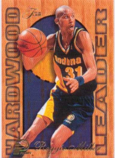 1997-98 Fleer Flair Hardwood Leaders #11 Reggie Miller