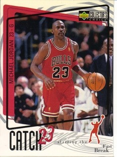1997-98 Collector's Choice #186 Michael Jordan/Catch 23 Fast Break