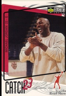 1997-98 Collector's Choice #190 Michael Jordan/Catch 23 Road Show