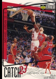 1997-98 Collector's Choice #193 Michael Jordan/Catch 23 Shake and Bake