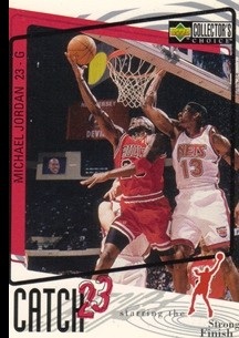 1997-98 Collector's Choice #194 Michael Jordan/Catch 23 Strong Finish