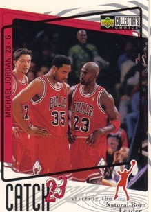 1997-98 Collector's Choice #195 Michael Jordan/Catch 23 Leader