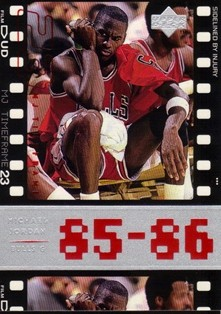1998 Upper Deck Michael Jordan Living Legend #7 Michael Jordan TF 1986-87