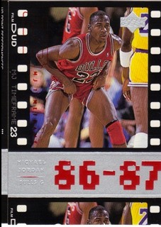 1998 Upper Deck Michael Jordan Living Legend #11 Michael Jordan TF 1987-88