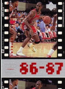 1998 Upper Deck Michael Jordan Living Legend #12 Michael Jordan TF 1987-88
