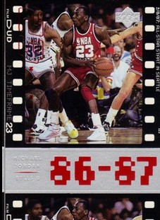 1998 Upper Deck Michael Jordan Living Legend #13 Michael Jordan TF 1987-88