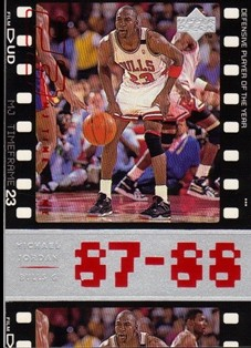 1998 Upper Deck Michael Jordan Living Legend #17 Michael Jordan TF 1988-89