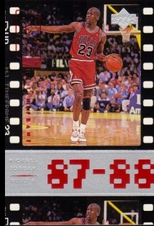 1998 Upper Deck Michael Jordan Living Legend #21 Michael Jordan TF 1988-89