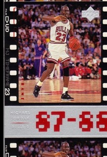 1998 Upper Deck Michael Jordan Living Legend #22 Michael Jordan TF 1988-89