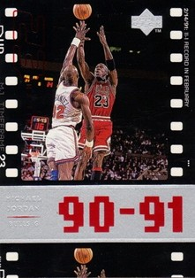 1998 Upper Deck Michael Jordan Living Legend #49 Michael Jordan TF 1991-92