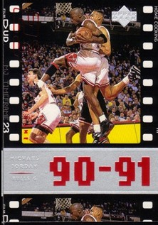 1998 Upper Deck Michael Jordan Living Legend #54 Michael Jordan TF 1992-93