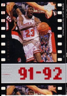 1998 Upper Deck Michael Jordan Living Legend #59 Michael Jordan TF 1992-93