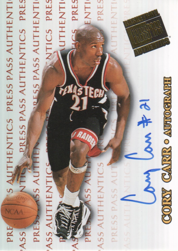 1998 Press Pass Authentics Autographs #28 Cory Carr