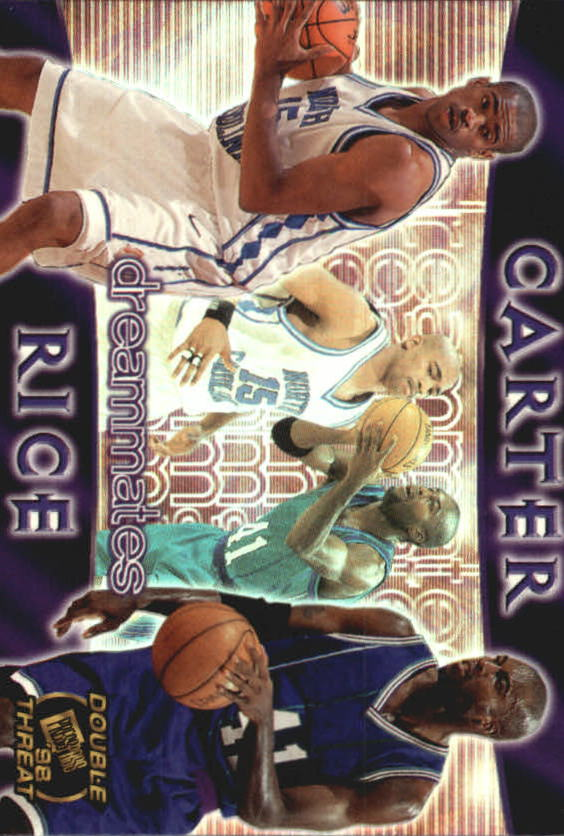 1998 Press Pass Double Threat Dreammates #DM4 Vince Carter/Glen Rice
